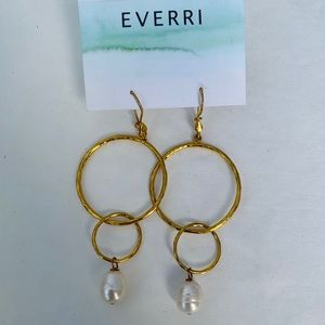Pearl Gold Plated Earrings NWT